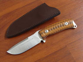 Fox Knives Pro Hunter Fixed Santos Wood , Brown Leather Sheath FX131DW
