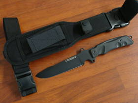 FOX Knives Predator Spetsnaz Tactical Fixed Knife W/Leg Strap FXG4B