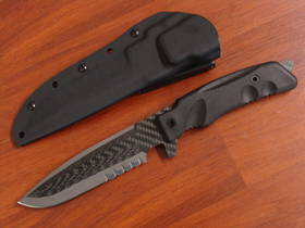 FOX Knives Stealth Carbon Titanium Fixed Knife FXSCT02B