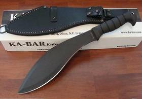 Ka-bar Machete Kukri w/ sheath