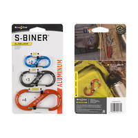 NITE IZE S-BINER SLIDELOCK ALUMINUM SET OF 3 ASSORTED COLOURS