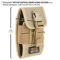 Maxpedition Vertical Smart Phone Holster Khaki