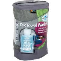SEA TO SUMMIT TEK TOWEL WASH KIT MEDIUM