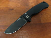 Lion Steel SR-2A BB Folding Knife  D2 Steel Blade, Black Aluminum Handle
