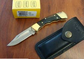 Buck 112 Finger Grooved Lockback knife
