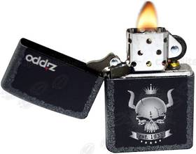 Zippo Iron Stone Skull Crown Lighter
