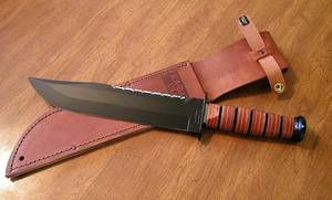 KA-BAR Big Brother Utility Knife w/ Leather Sheath