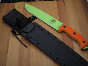 ESEE Venom Green Junglas Survival Fixed Blade Knife w/ Sheath