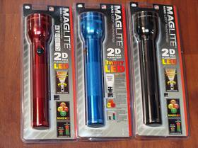 Maglite LED 2 D Cell Torch - 3 Colours
