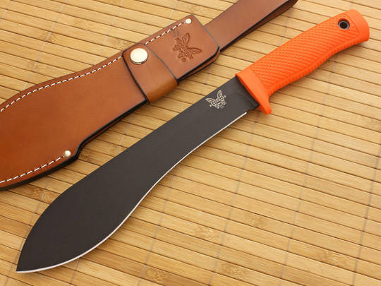 Benchmade Jungle Bolo Fixed Black Blade, Orange Handles
