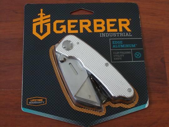 Gerber Edge Silver Aluminum Knife