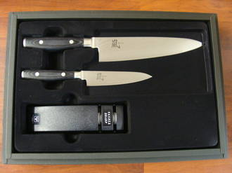 RAN Japanese DAMASCUS CHEF'S KNIFE 3PC Gift Set