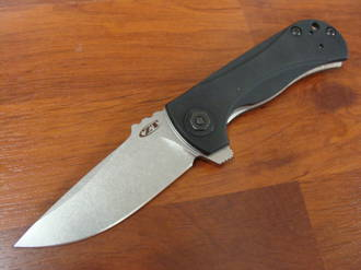 Zero Tolerance Les George Flipper Stonewashed Blade G10 Handles