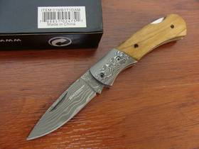 Boker Magnum Damascus Mistress Folding Knife