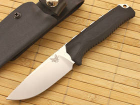 Benchmade Hunt Steep Mountain Hunter S30V Blade, Black Handles