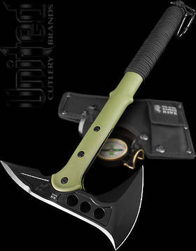 United Cutlery M48 Hawk Olive Tactical Tomahawk with Compass