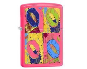 Zippo Pop Lips Neon Pink Lighter