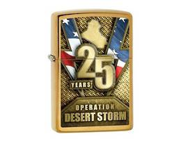 Zippo 25th Anniversary Operation Desert Storm Brass Lighter