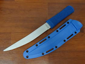 CRKT Hissatsu Fixed Trainer Blade, Blue Handle