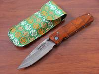 Mcusta Classic Wood and Damascus Series Folder