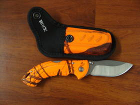 Buck Folding Omni Hunter 10 pt Orange Knife