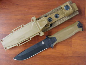 Gerber Strongarm Fixed Blade Knife- Brown