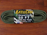 ARM BattleCord/ Battle cord 2,650 lbs Tested - OD Green