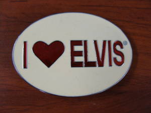 GIFTZONE - I LOVE ELVIS BUCKLE WITH $100 PURCHASE