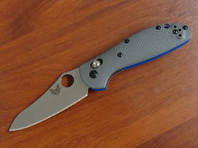 Benchmade Mini Griptilian Gray G10 Handles CPM-20CV Sheepsfoot Blade