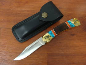 BUCK 110 Folding Hunter Knife Custom made Limited Edition