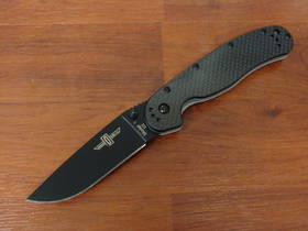 Ontario RAT Limited Edition Model 1 Folding Knife D2 Black Blade, Carbon Fiber/G10 Handles