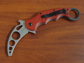 Fox Knives Folding Karambit Trainer, Red G10 Handles FX479TK
