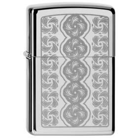 Zippo Swirled Circles High Polish Chrome Lighter